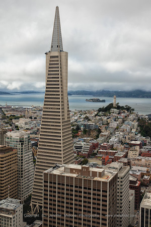 Transamerica and Coit Tower - Color