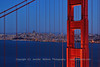 Classic View of San Francisco with Golden Gate Bridge Tower