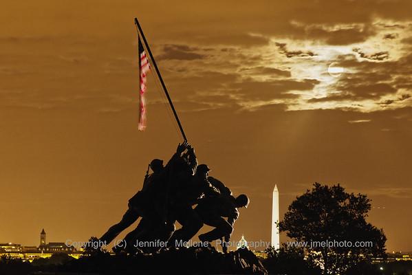 Iwo Jima Memorial in the Moonlight