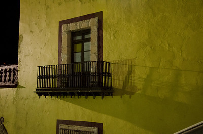 Yellow Wall, Balcony and Shadow
