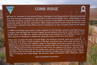 Sign at Comb Ridge