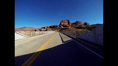 GoPro across the Hite Crossing Bridge