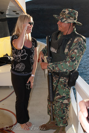 Ilke charming the Mexican Navy