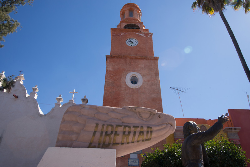 Statue of Hidalgo - the priest who rallied the indigneous people to rebel