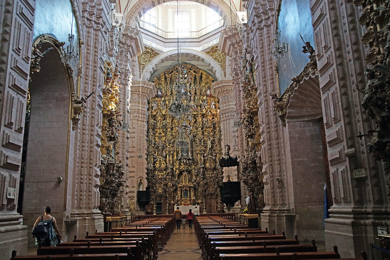 Inside the Gold Laden Cuernavaca Cathedral