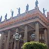 Teatro Juarez - statues represent the arts