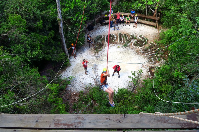 Bungee swing at Selvatica.