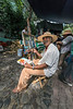 Artist at the market