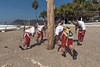 Beginning of the Danza de los Voladores, Malecon, Chapala, Mexico