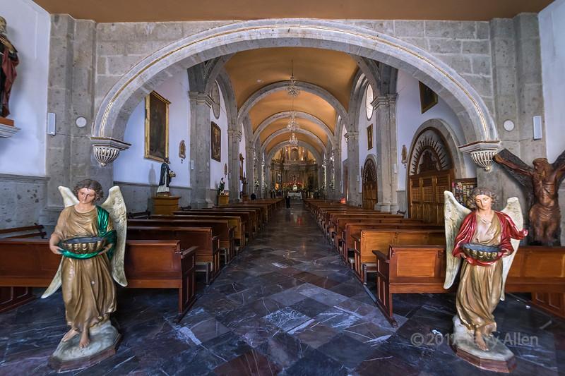 Parroquia de San Francisco de Asís interior, Chapala, Jalisco, Mexico
