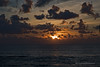 Riviera Maya Palapa Sunrise Distant Ship on the Horizon Marked