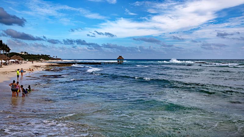 Riviera Maya Beach Scene Ultra Wide Marked