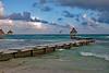 Riviera Maya Angled Boardwalk Palapa #3 Marked