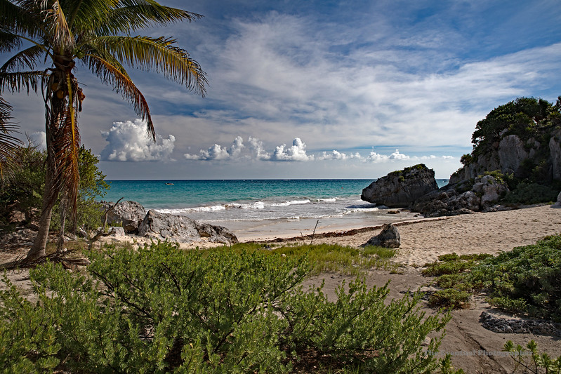 Tulum Ruins Beach #1 Marked