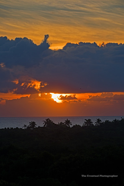 Akumal Sunrise Vertical Marked