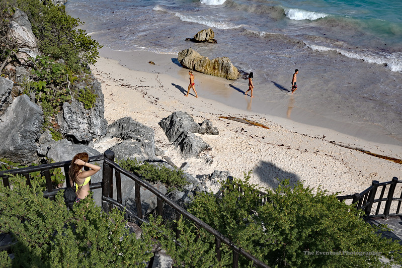 Tulum Ruins Beach #6 Marked