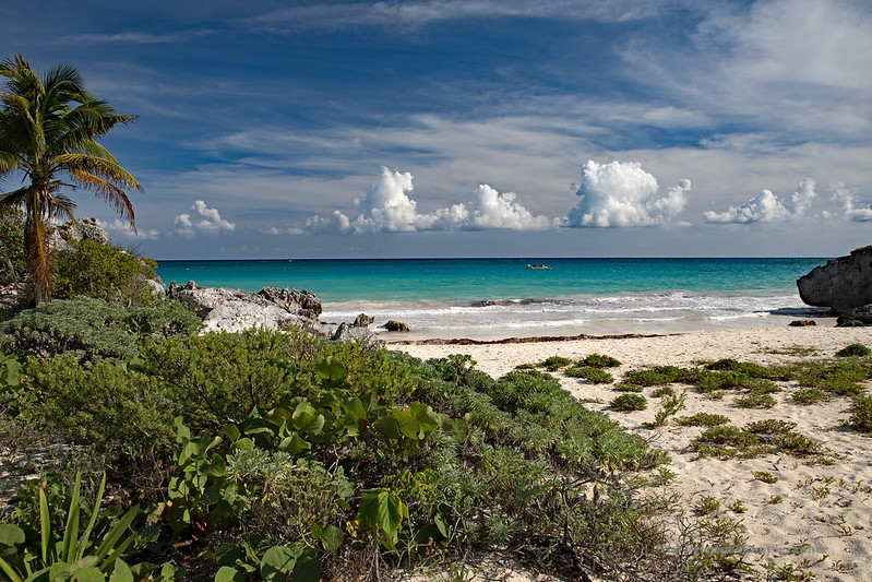 Tulum Ruins Beach #2 Marked