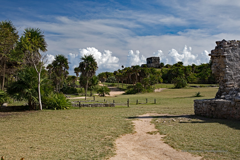 Tulum Ruins Wide Area Shot Marked
