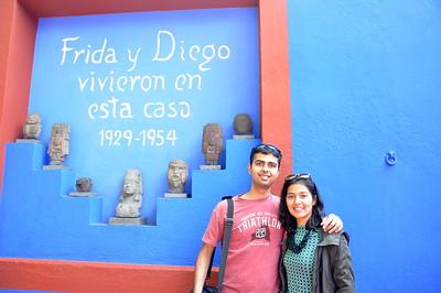 At the Frida Khalo house