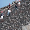 Struggling to stay sure footed - Teotihuacan
