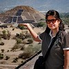 Holding the Moon on one hand  - Teotihuacan