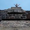 Enjoying the sun rays atop the Pyramid of the Sun - Teotihuacan