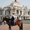 The Tourist Police Patrolling By Horse, Wearing Their Sarapes And Sombreros
