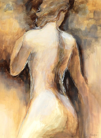 Neutre Nue I-Dupre, 24x18 painting on paper  JPG