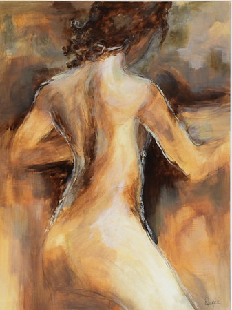 Neutre Nue II-Dupre, 24x18 painting on paper JPG