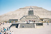 Pyramid of the Sun is the largest building in Teotihuacan, was built around 100 A.D. Its size is 738 feet (225 meters) across and 246 feet (75 meters) high