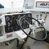 Modern controls on boat