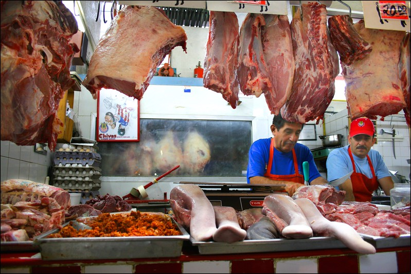 Meat Market, San Juan de Dios Market, Guadalajara, Mexico - Mexico photography wall art