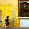 Two girls walk to school, Antigua, Guatemala - Guatemala photography wall art