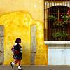 Two girls walk to school, Antigua, Guatemala - Guatemala photography wall art