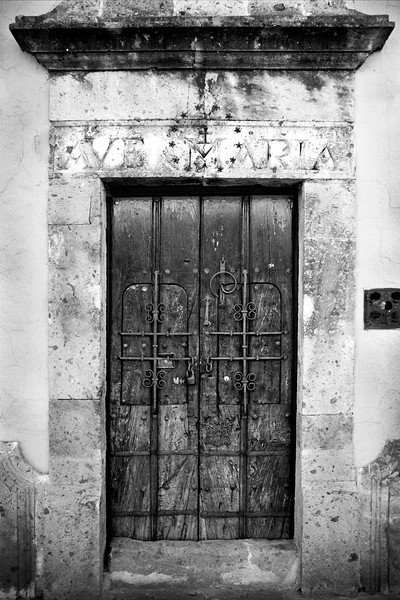 Ave Maria Doorway, Guadalajara, Mexico - Mexico photography wall art