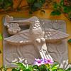 Colibri (hummingbird) relief sculpture on a building