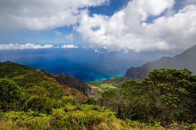 Kalalau Valley above the Napali Coast Located on the island of Kauai