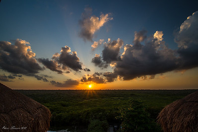 Sunset in the Yucatan Akumal Mexico