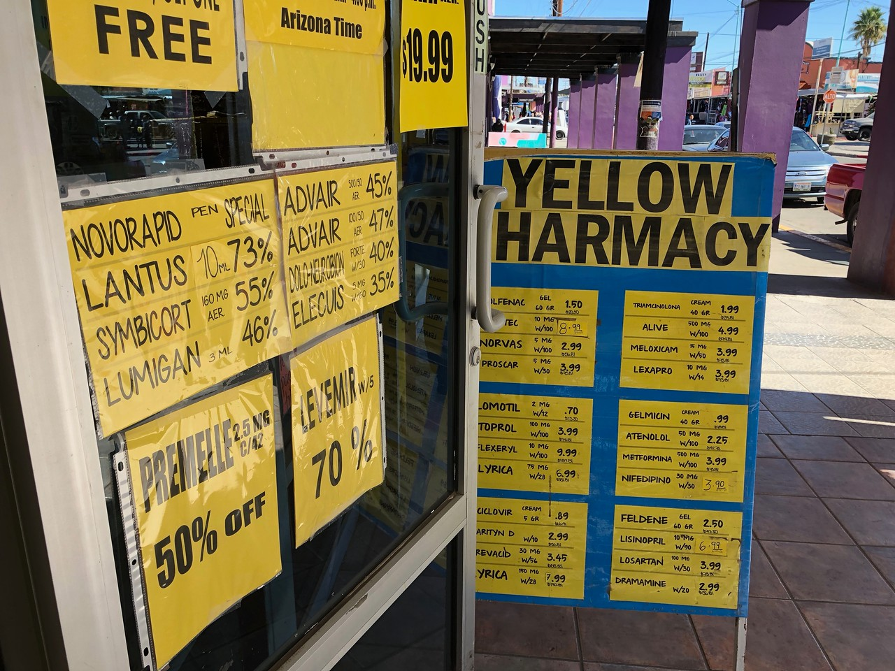 Los Algodones Mexico Pharmacy price List