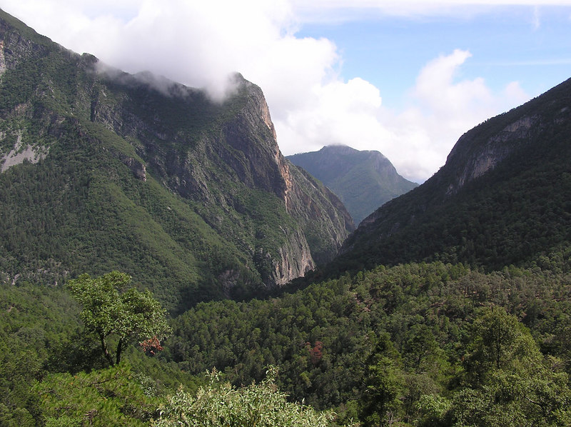 Looking down Lagunillos canyon, which leads to Portreo Redondo and Las Adjuntas.