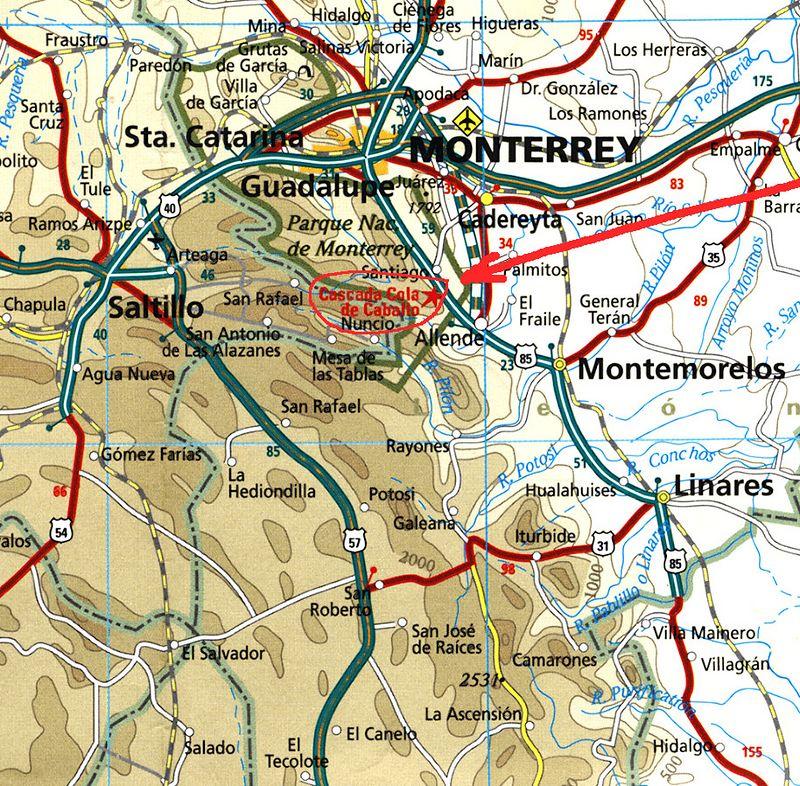 Cola de Caballo area, just south of Monterrey, NL, Mexico