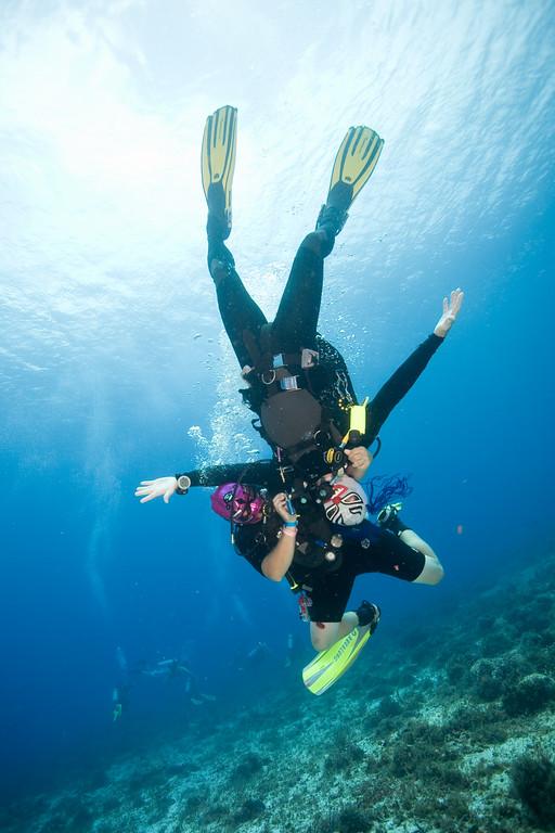 Underwater Mexican wrestling!