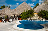A hotel resort and swimming pool in Cozumel, Mexico.