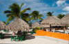 Beach kiosks and shops in Cozumel, Mexico.