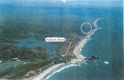 "Also not my photo - from http://tomzap.com/htecuan.html: ""Aerial photo showing hotel, airport, lagoon. Villa Shangri la circled in background."" Shangri La has 4 bedrooms, 7 bothrooms, and rents for $1,000 per night (for sale also for 3.5 million US)."