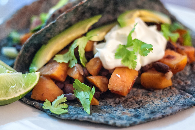 Simple sweet potato tacos