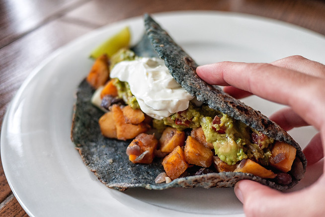 Simple black bean and sweet potato recipe