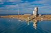 The concrete port facilities at Pichilingue near La Paz, Baja California Sur, Mexico.