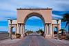 The port gate at Pichilingue near La Paz, Baja California Sur, Mexico.