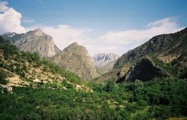 Looking towards San Isidro Canyon from Laguna de Sanchez